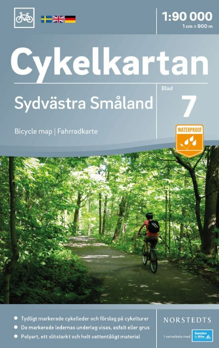 Sweden Cycling Map 07 - Smaland Southwest